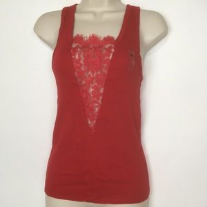 Victoria's Secret red sexy lace tank top